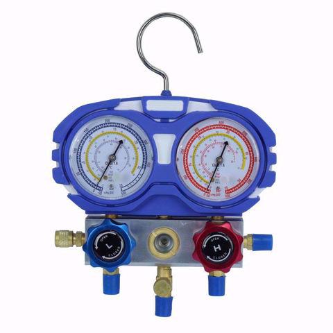Juego de manómetros para refrigeración Kairos con mangueras de 150 cm